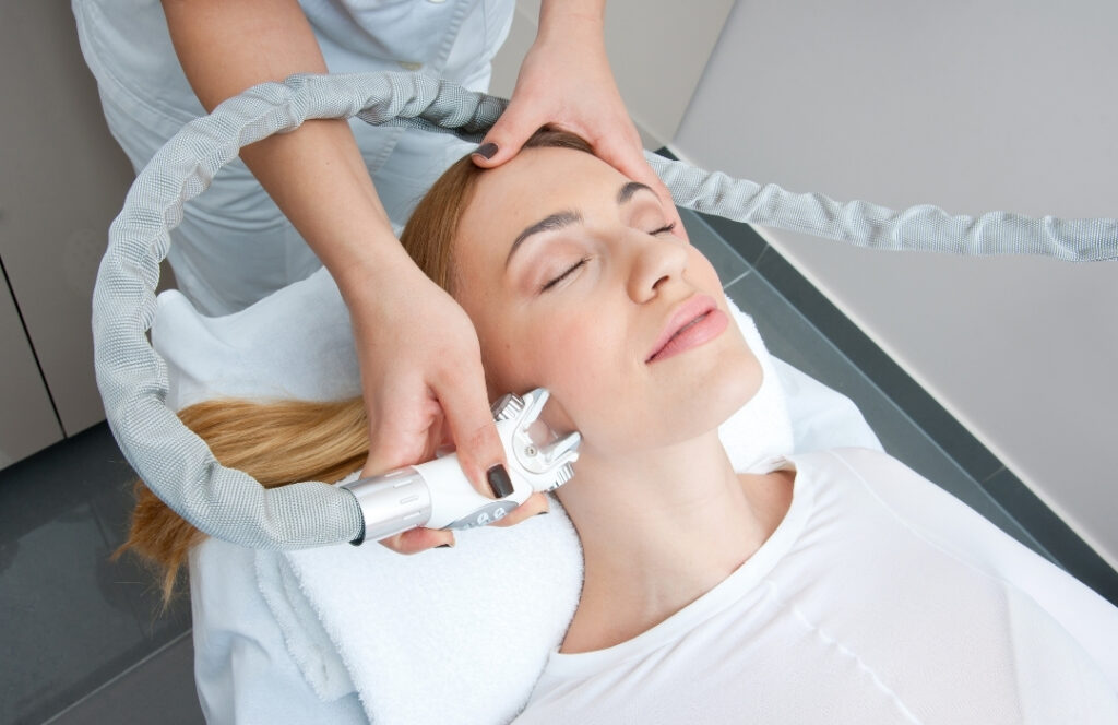 [Woman Receiving Facial Treatment] | Featured image for Non Surgical Face Lift | Blog
