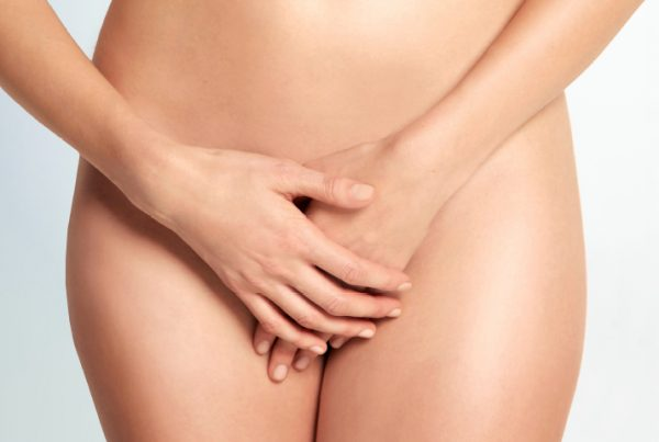 Labiaplasty Page Banner - Woman Covering Her Intimate Parts with Her Hands