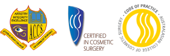 A. C. C. S. Badge, Certified inn Cosmetic Surgery Badge, Australian College of Cosmetic Surgery Code of Practice Badge