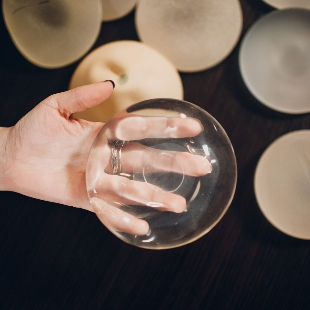 Photo of a variety of breast implants | Featured image for types of breast implants blog.